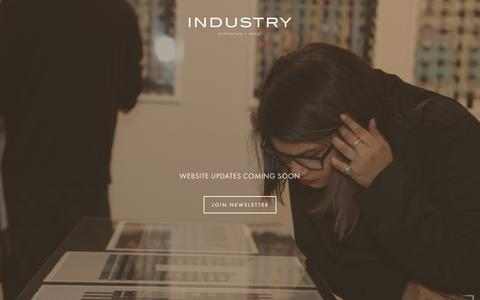Screenshot of Home Page industrygallery.net - Industry Gallery - captured Dec. 26, 2016
