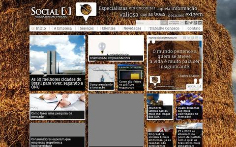 Screenshot of Home Page socialex.com.br - Social Ex - Pesquisa, consumo e mercado - captured Oct. 3, 2014