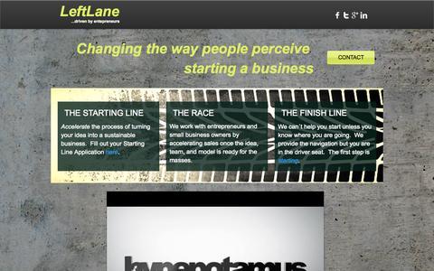 Screenshot of Home Page leftlaneusa.com - Left Lane - captured Oct. 2, 2014