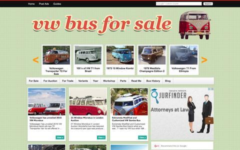 Screenshot of Blog vwbussale.com - VW Bus: Blog for Sale - captured Feb. 1, 2016