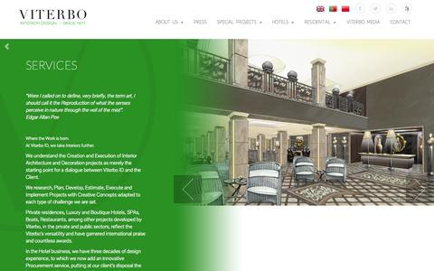 Screenshot of Services Page viterbo-id.com - Services - Viterbo Interior Design - captured Nov. 5, 2014