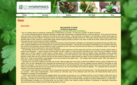 Screenshot of Press Page city-hydroponics.com - city-hydroponics | News - captured May 17, 2017