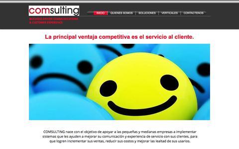 Screenshot of Home Page comsulting.co - COMSULTING   COMUNICACIONES Y SERVICIO AL CLIENTE PARA PYMES   BOGOTA - captured Oct. 1, 2014