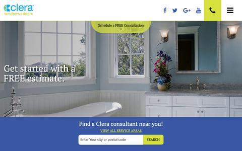 Screenshot of Contact Page clerawindows.com - Contact Us | Clera Windows + Doors - captured Sept. 28, 2018