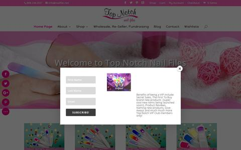 Screenshot of Home Page nailfile.net - Home Page - Top Notch Crystal Glass Nail Files - captured Oct. 19, 2018