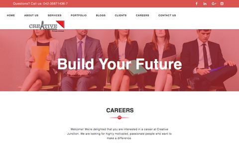 Screenshot of Jobs Page creative-junction.com - Creative Junction - captured July 23, 2018