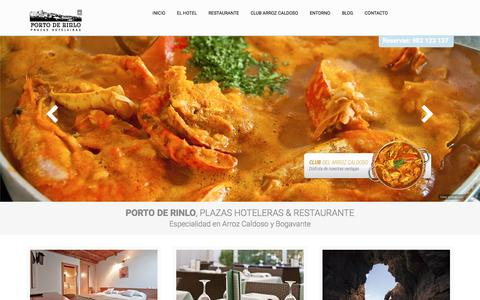 Screenshot of Home Page portoderinlo.es - Hotel y Restaurante Porto de Rinlo  á  Arroz Caldoso, Catedrales... - captured Dec. 10, 2015