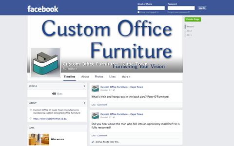 Screenshot of Facebook Page facebook.com - Custom Office Furniture - Cape Town | Facebook - captured Oct. 22, 2014