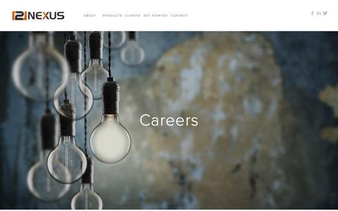 Screenshot of Jobs Page 121nexus.com - Careers — 121nexus - captured July 13, 2018