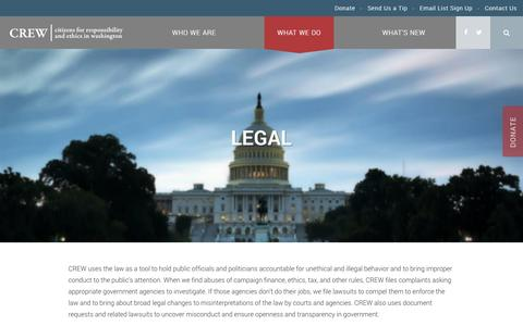 Screenshot of Terms Page citizensforethics.org - Legal - CREW - captured Nov. 6, 2016