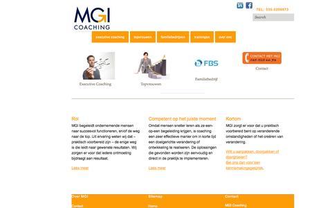 Screenshot of Home Page mgicoaching.nl - MGI Coaching | Meer groei door inzicht | - captured Sept. 30, 2014