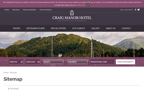 Screenshot of Site Map Page craigmanor.co.uk - See Our Sitemap | Craig Manor Hotel - captured Sept. 30, 2018