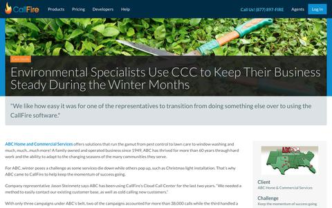 Screenshot of Case Studies Page callfire.com - Environmental Specialists Use CCC to Keep Their Business Steady During the Winter Months | CallFire - captured March 8, 2018