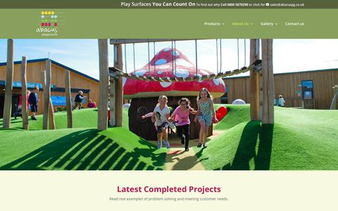 Screenshot of Case Studies Page abacuspg.co.uk - Latest Projects - Abacus Playgrounds - captured Oct. 2, 2018