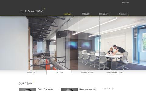 Screenshot of Team Page fluxwerx.com - Our Team - FLUXWERX - captured Oct. 10, 2018