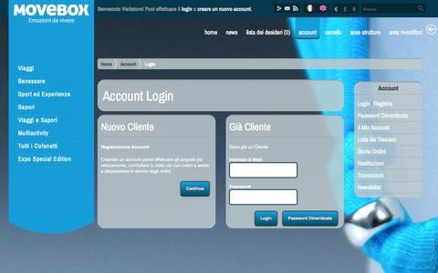 Screenshot of Login Page movebox.eu - Account Login - captured Nov. 5, 2014