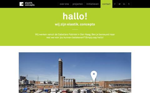 Screenshot of Contact Page elastik.nl - Contact - Elastik.Concepts - captured Oct. 2, 2014