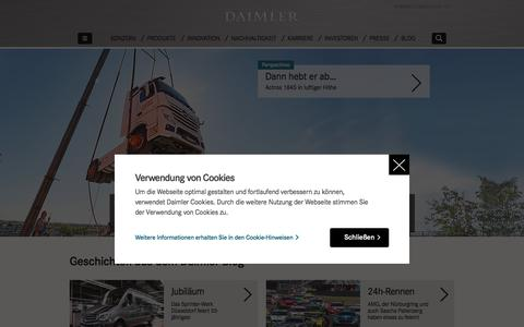 Screenshot of Privacy Page daimler.com - Startseite | Daimler - captured June 1, 2017