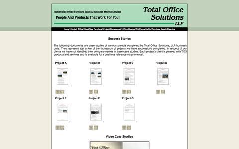 Screenshot of Case Studies Page tospartners.com - TOS - Case Studies - captured Oct. 27, 2014