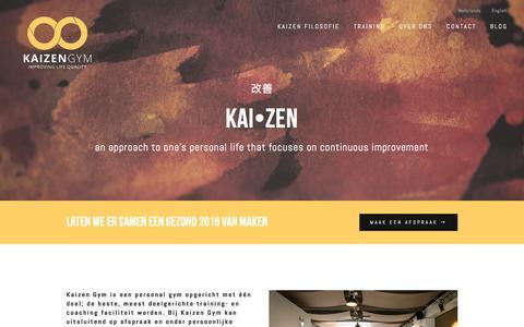 Screenshot of Home Page kaizengym.nl - Kaizen Gym - captured Jan. 9, 2016