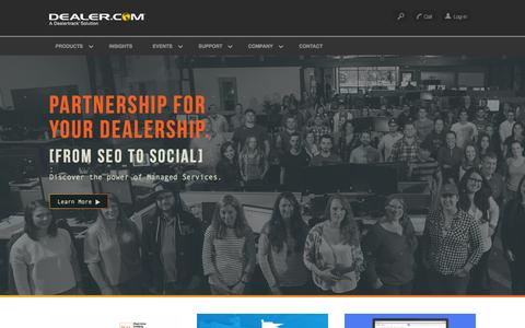 Screenshot of Home Page dealer.com - Automotive Websites, SEO, Advertising | Dealer.com - captured Oct. 2, 2015