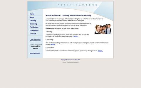 Screenshot of Home Page adrianhaddock.com - Adrian Haddock - Kerrad Consulting - captured Oct. 6, 2014