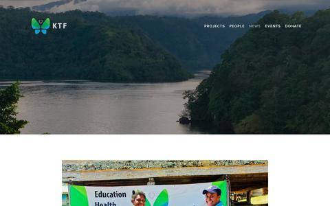 Screenshot of Press Page ktf.ngo - News — KTF - captured Dec. 20, 2018