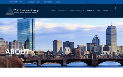 Screenshot of About Page pmcinsurance.com - About - PMC Insurance Group - captured Jan. 24, 2016