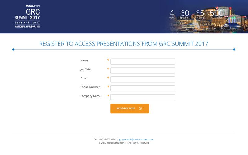 Register to access Presentations from GRC Summit 2017 | Washington D.C