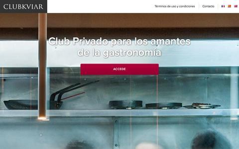 Screenshot of Home Page Terms Page clubkviar.com - ClubKviar.com | Restaurantes en Madrid y Barcelona para paladares privilegiados - captured Sept. 13, 2014