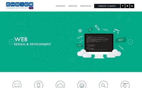 Screenshot of Home Page choiceinc.com - Mobile App Design, Development Santa Clarita | ChoiceInc - captured Oct. 10, 2015