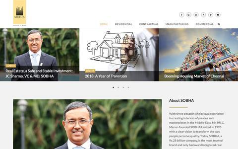 Screenshot of Blog sobha.com - SOBHA | Best Real Estate Developer in Bangalore - captured Feb. 11, 2019