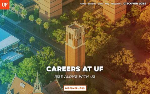 Screenshot of Jobs Page ufl.edu - Careers at UF - captured Sept. 15, 2019