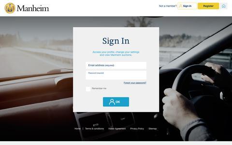 Screenshot of Login Page manheim.com.au - User Login - captured April 4, 2017