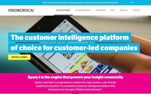 Customer Intelligence Software - Feedback & Insight - Vision Critical
