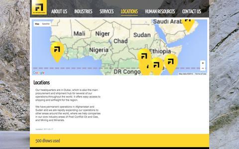 Screenshot of Locations Page rainternationalservices.com - Human Resources Management in East Africa | Food Supply Chain Management | Supply Chain – Home - captured Jan. 22, 2016