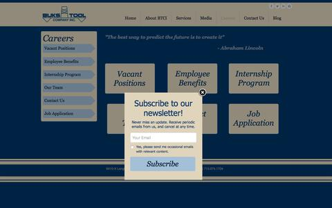 Screenshot of Jobs Page bukstool.com - careers - captured Oct. 11, 2017