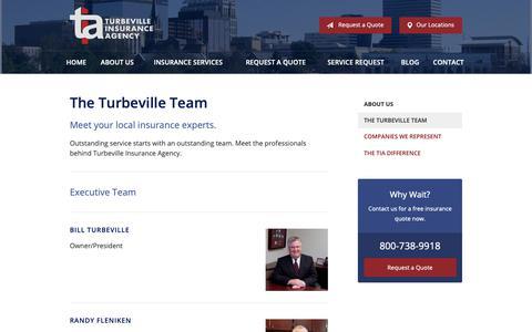 Screenshot of Team Page tiasc.biz - The Turbeville Team – Lexington SC | Turbeville Insurance Agency - captured Oct. 18, 2018