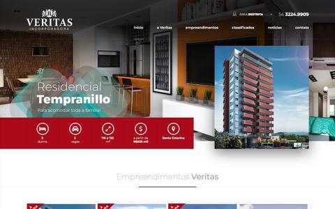 Screenshot of Home Page veritasincorporadora.com.br - Veritas Incorporadora - captured Feb. 7, 2018