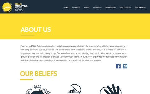 Screenshot of About Page yello-marketing.com - Yello Sports Marketing & PR Agency   Hong Kong & Singapore   About us - captured Oct. 19, 2018