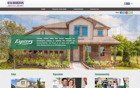 Screenshot of drhorton.com - Express Homes | Affordable Homes Built with Quality and Craftsmanship - captured March 19, 2016
