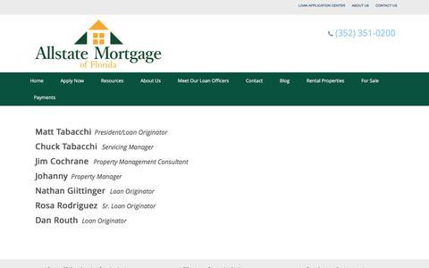 Screenshot of Team Page allstateocala.com - Our Staff - captured April 28, 2017