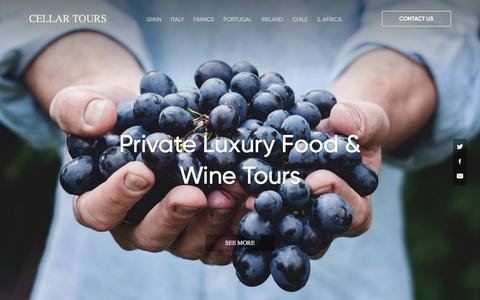 Screenshot of Home Page cellartours.com - Luxury VIP Private Food & Wine Tours » Cellar Tours - captured July 16, 2018