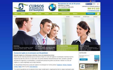 Screenshot of Home Page studyglobal.es - Cursos de inglés y estudiar inglés en el extranjero - StudyGlobal - captured Dec. 5, 2015