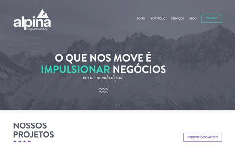Screenshot of Home Page alpinaweb.com.br - Alpina Digital Branding / Impulsionando Negócios - captured Oct. 4, 2014