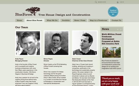 Screenshot of Team Page blueforest.com - Tree House Experts | Blue Forest | Our Team - captured Jan. 20, 2016