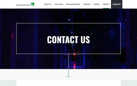 Screenshot of Contact Page graphnet.com - Graphnet - captured Nov. 5, 2018