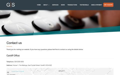 Screenshot of Contact Page greenawayscott.com - Contact | Greenaway Scott - captured Nov. 5, 2018