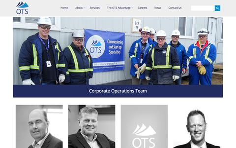 Screenshot of Team Page otsl.ca - Our Team | Offshore Technical Services - captured Nov. 15, 2018