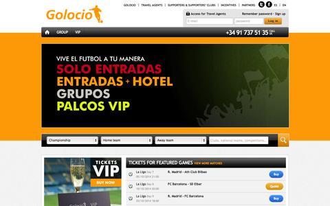 Screenshot of Home Page golocio.com - Golocio.com - captured Sept. 27, 2014